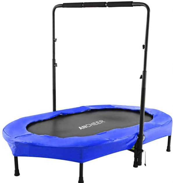 ANCHEER Mini Rebounder Trampoline with Adjustable Handle