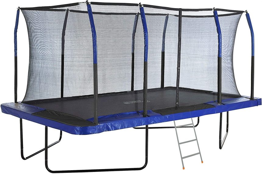 Mega Outdoor Trampoline with Fiber Flex Enclosure System